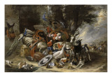 Animals and Utensils Said Jacob Depart for Mesopotamia Giclee Print by Pieter Boel