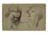 Convulsionnaires et miraculés de Saint-Médard : la Dame Stapard, étude pour la guérison Giclee Print by Jean Restout