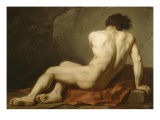 Académie d'Homme dite Patrocle Giclee Print by Jacques-Louis David