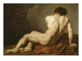 Académie d'Homme dite Patrocle Giclee Print by Jacques-Louis David