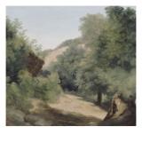 A Nemi : le chemin au soleil Giclée-Druck von Pierre Henri de Valenciennes