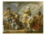 Abraham se préparant à sacrifier Isaac Lámina giclée por Jean Restout