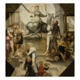 Allégorie de la Justice Giclée-tryk af Domenico Beccafumi