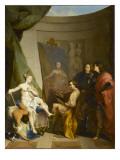 Apelle peignant Campaspe Giclée-Druck von Nicolas Vleughels