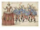 """Album; Ballet des Fées de la forêt de Saint Germain : """"Musiciens de campagne""""; neuf figures Giclee Print by Daniel Rabel"""