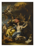 Allegory of France in the Guise of Minerva (Wisdom) Giclee Print by Sebastiano Ricci
