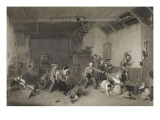 """Blind-Man's Bluff"" (Le Colin-Maillard) by Raimbach Giclee Print by David Wilkie"