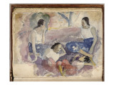 Album Noa Noa: Tahitian Women Seated in a Landscape Giclee Print by Paul Gauguin