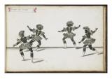 """Album ; Ballet du Chasteau de Bicêtre ; """" Entrée des Lutins""""; quatre figures Giclee Print by Daniel Rabel"""