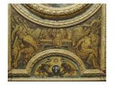 Antichambre du Grand Couvert de la Reine : extrémité ouest du plafond Giclée-Druck von Claude Vignon
