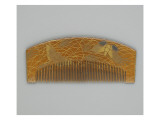 Comb Decorated with Butterflies and Grasses of Autumn Giclee Print
