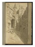 Album : Rue avec diverses architectures Giclée-Druck von Pierre Henri de Valenciennes