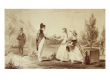 """Napoleon to St. Helena Island. the Miss Balcombe "" Giclee Print by Edouard-Auguste Villain"