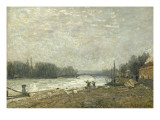 After the Debacle, the Seine at the Pont De Suresnes Giclee Print by Alfred Sisley