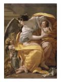 Figure allégorique dit La Richesse Giclée-Druck von Simon Vouet