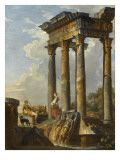 Ruines antiques Giclee Print by Giovanni Paolo Pannini