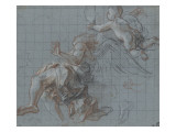 Angel and Cherub: Resumption of a Foot and a Left Arm Giclee Print by Antoine Coypel