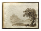 Album of Drawings Charlotte Napoleon: View of a Lake Giclee Print