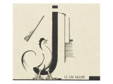 &quot;le coq gaulois&quot;dessin d&#39;Edward Steichen Gicl&#233;e-Druck