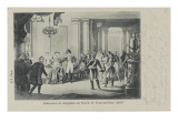 Abdication of Napoleon, Fontainebleau Castle (1814) Giclee Print