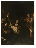 Adoration des bergers Reproduction procédé giclée par Guido Reni