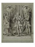 Convulsionnaires et miraculés de Saint-Médard : P.G. de Pézenas, guérison Giclee Print by Jean Restout
