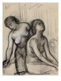 Une femme coiffant, une femme assise Giclee Print by Pierre Puvis de Chavannes