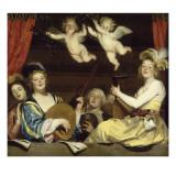 Konzert Giclée-Druck von Gerrit Van Honthorst