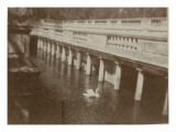 Colonnade and No Water in a Park in Nimes with Swan Giclee Print by Henri Jacques Edouard Evenepoel