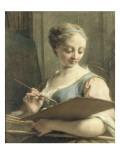 Allrie de la Peinture Giclee Print by Jean Restout