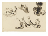 Album: Education: Man Seen from Above; Arm Chest Half Giclee Print by Eugene Delacroix