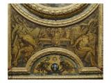 Antichambre du Grand Couvert de la Reine : extrémité est du plafond Giclée-Druck von Claude Vignon