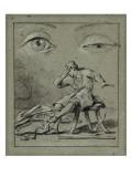 Convulsionnaires et miraculés de Saint-Médard : P.G. de Pézenas, maladie Giclee Print by Jean Restout