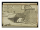 Album: Street around 1775 with Various Architectures Giclee Print by Pierre Henri de Valenciennes