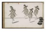 """Album ; Ballet du Chasteau de Bicêtre ; """" Seconde Entrée des Fantômes""""; quatre figures Giclee Print by Daniel Rabel"""