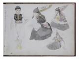 Album du voyage en Afrique du Nord Giclee Print by Eugene Delacroix