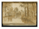 Album: Landscape, Trees Along the Water around 1775 Giclee Print by Pierre Henri de Valenciennes