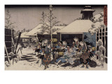 Acte XI, attaque nocturne, 3 : l'accomplissement Giclee Print by Ando Hiroshige