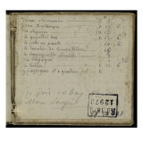 Album : Notes manuscrites Gicl&#233;e-Druck von Pierre Henri de Valenciennes