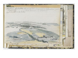Album Dummy: Panoramic View of a Landscape of Fields Giclee Print by Johan Barthold Jongkind