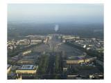Vue aérienne du château de Versailles, en 1990 Giclée-Druck