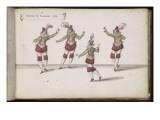 """Album ; Ballet de la Douairière de Billebahaut ; """"Danseuses de sarabande"""" ; quatre figures Giclee Print by Daniel Rabel"""
