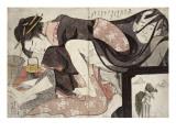 Album de treize estampes érotiques Giclee Print by Hosoda Eiri