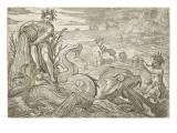 Allégorie de l'eau Giclée-tryk af Antonio Tempesta