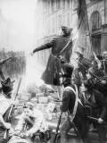 """""""Sur la barricade"""" Giclée-Druck von François Vizzavona"""
