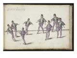 """Album ; Ballet des Fées des Forêts de Saint Germain ; """"Entrée des Androgynes""""; trois figures Giclee Print by Daniel Rabel"""