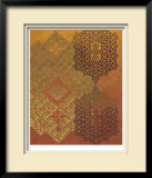 Golden Henna II Limited Edition Framed Print by Chariklia Zarris