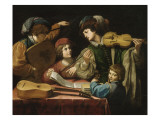 Un concert Giclee Print by Lionello Spada