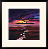 Sunset Over Arran Limited Edition Framed Print by Davy Brown