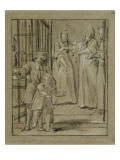 Convulsionnaires et miraculés de Saint-Médard : la dame Stapart, maladie Giclee Print by Jean Restout